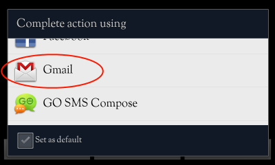 select Gmail